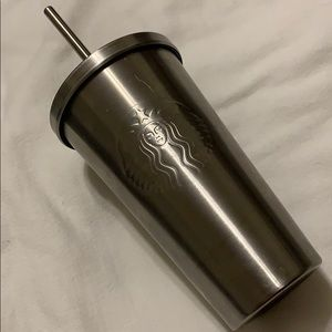 16 oz. Metal Starbucks Cold Tumbler